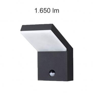 Applique LED Neo noire avec détecteur