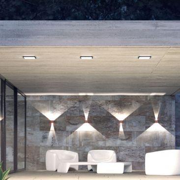 Applique LED extérieure LEK blanche