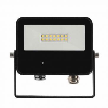 Projecteur LED 10 Watts Sky noir avec détecteur micro-ondes