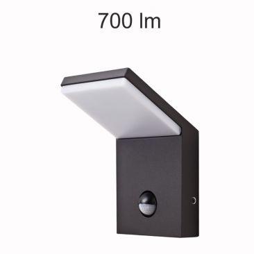 Applique LED Neo noire avec détecteur - 9 Watts