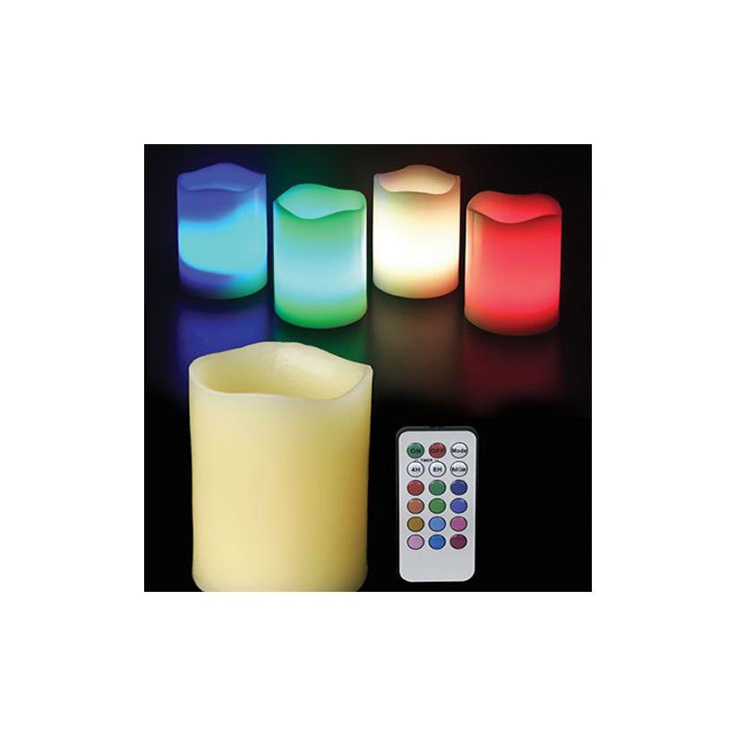 Bougie LED en cire avec télécommande
