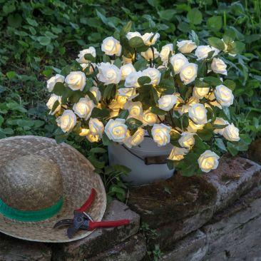 Bouquet de roses lumineuses