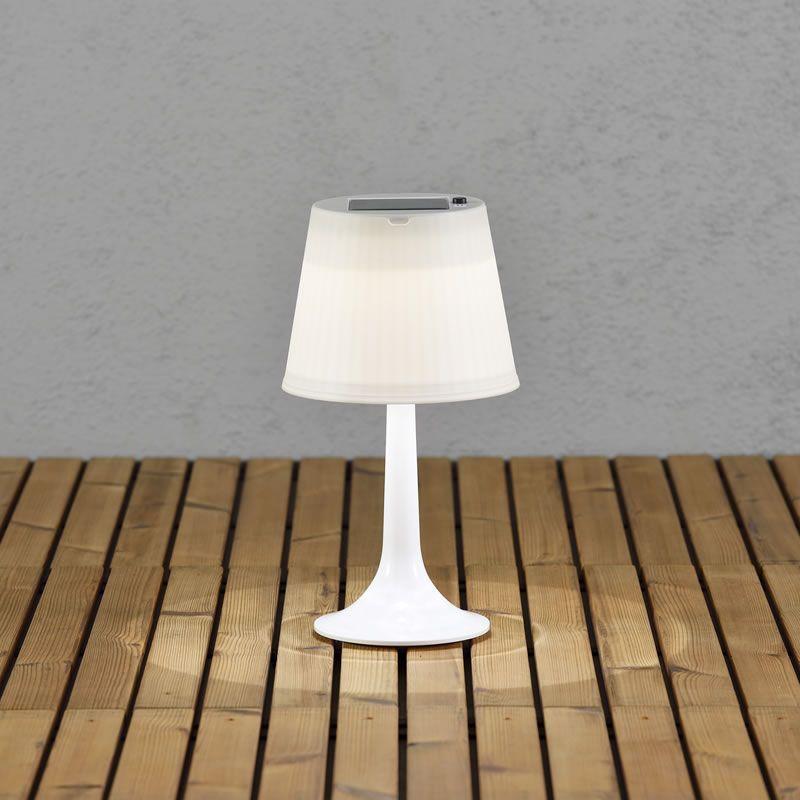 lampe de table led solaire lux et d co. Black Bedroom Furniture Sets. Home Design Ideas