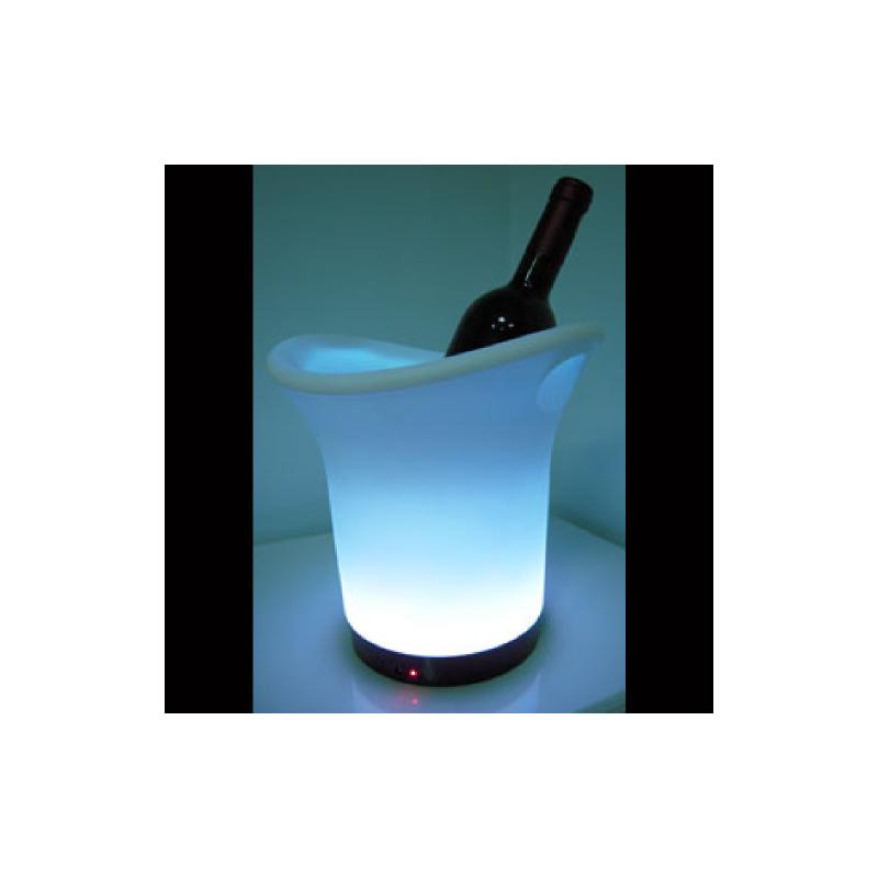 Seau a champagne lumineux rechargeable lux et d co - Plastique transparent pour table ...