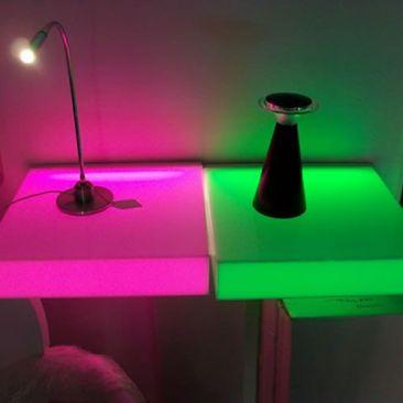 Pack 2 etageres LED lumineuses
