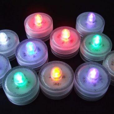 Lampions lumineux LED RVB par 10