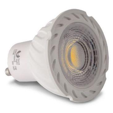 Ampoule LED GU10 COB blanc chaud 5 ou 7 Watts