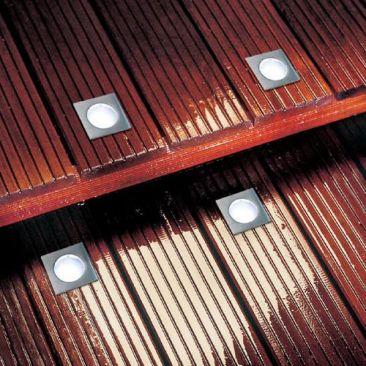 Spot LED carré pour terrasse - Pack de base