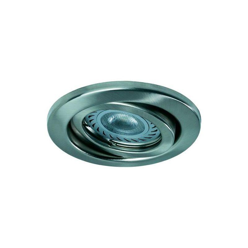 Pack de 3 spots led acier bross pour le plafond lux et d co - Spot pour plafond ...
