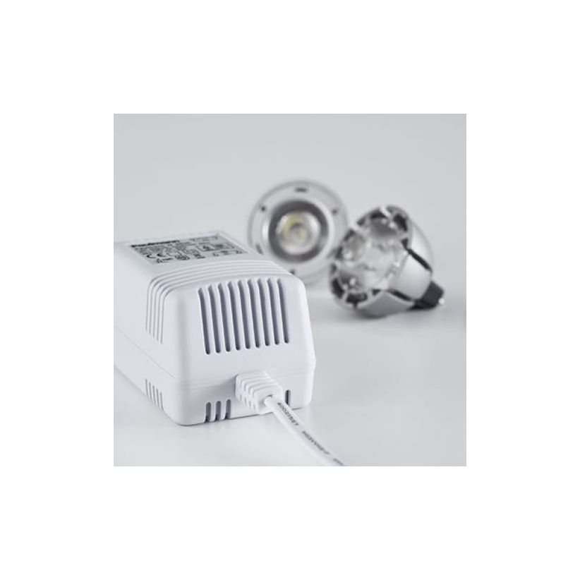 Transformateur LED 230/12V courant continu 20W blanc