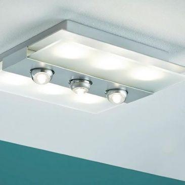 Applique LED carrée Xeta avec spots