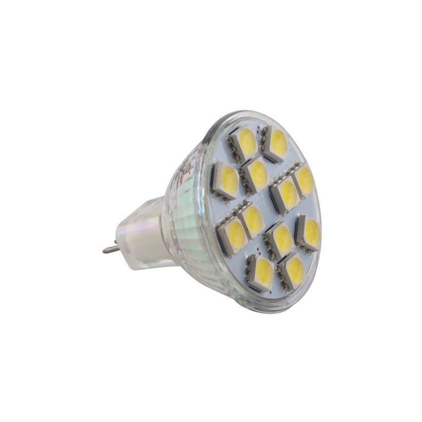 Ampoule 12 LED MR11 base G4