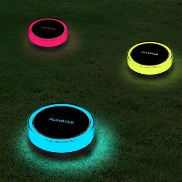 Pack de 3 lampes LED solaires connectées Playbulb Garden