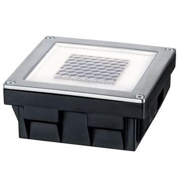 Pavé LED solaire carré à encastrer
