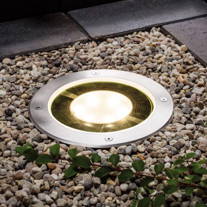 spot led solaire a encastrer 10 lumens lux et d co. Black Bedroom Furniture Sets. Home Design Ideas