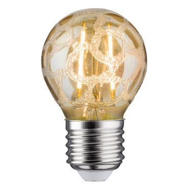 Ampoule LED 2,5 watts E27 givré doré 230 V blanc chaud