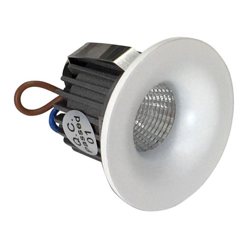 Spot LED mini à encastrer rond White