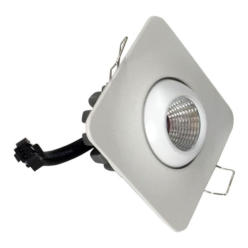 Mini spot LED carré orientable