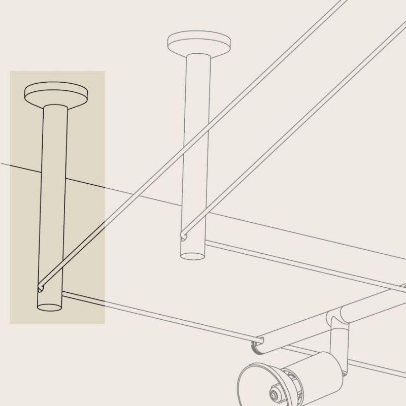 renvoi d 39 angle tube pour spot led sur c ble lux et d co. Black Bedroom Furniture Sets. Home Design Ideas