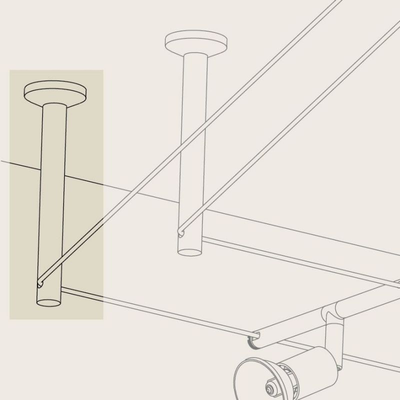 interesting renvoi duangle tube pour spot led sur cble. Black Bedroom Furniture Sets. Home Design Ideas