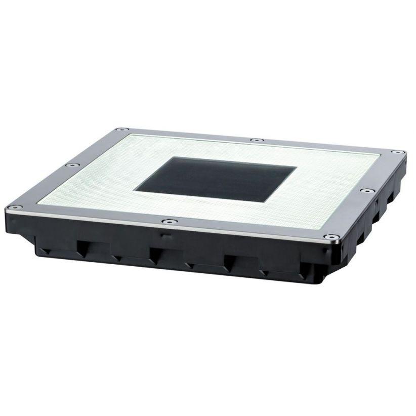Pavé LED solaire carré avec diffuseurs couleurs
