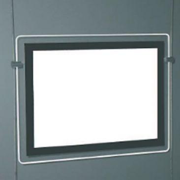 Porte affiche lumineux Cristal special vitrine