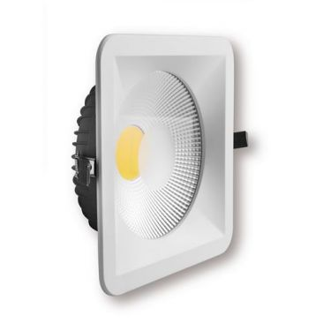 Spot LED COB encastrable carré type downlight