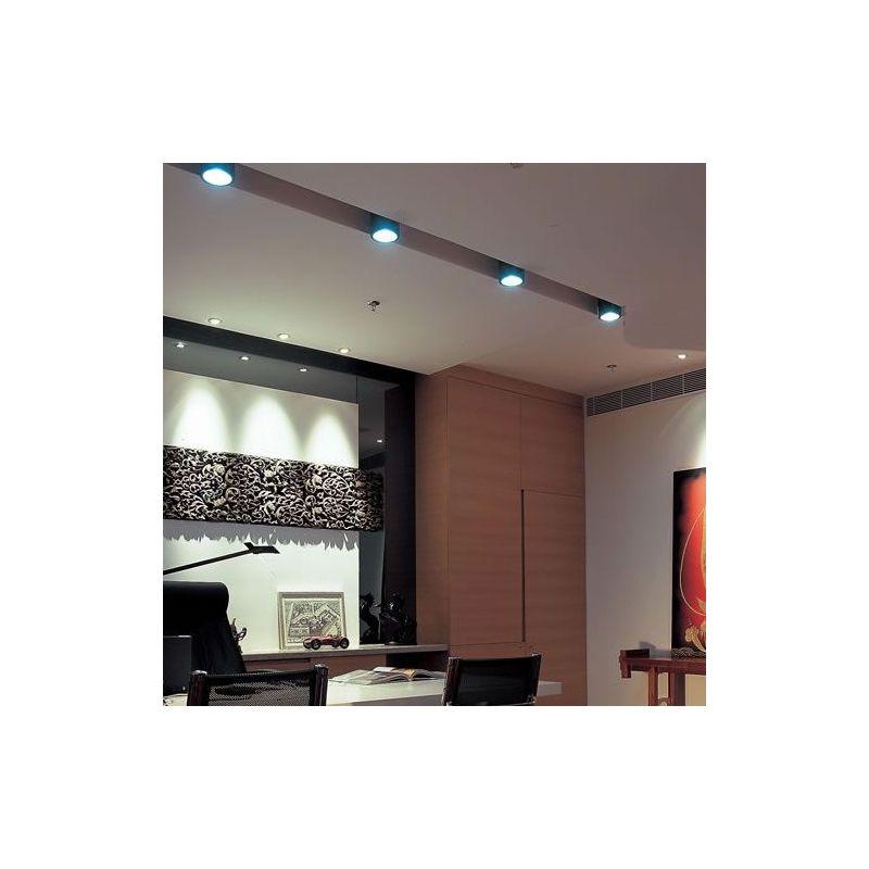 plafonnier led cylindre noir lux et d co. Black Bedroom Furniture Sets. Home Design Ideas