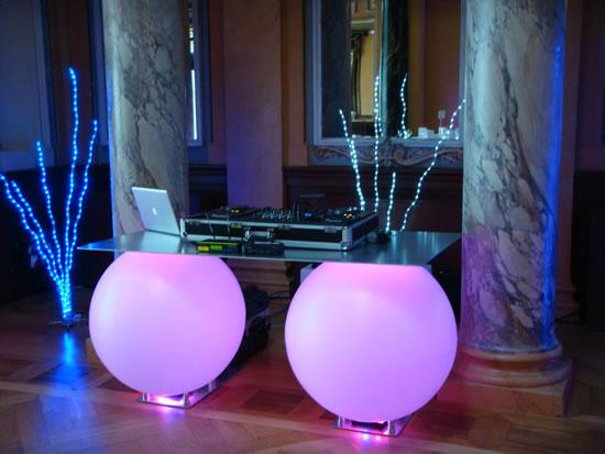 spheres lumineuses