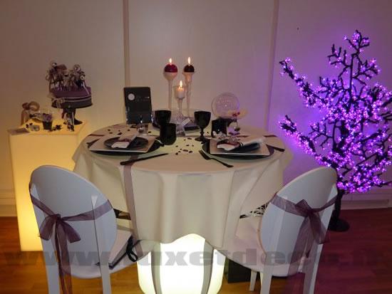 La tables des mariés