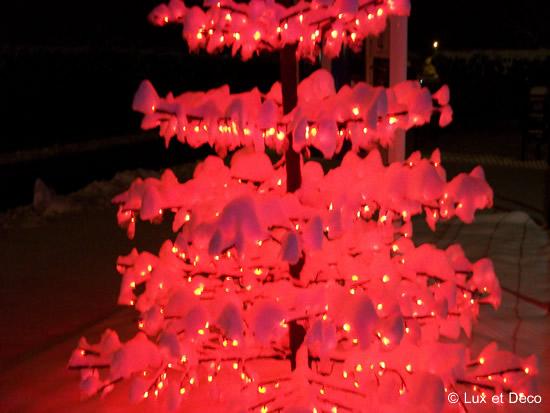 Arbre Lumineux Rouge Arbre Dentelle à Led Rouge 2