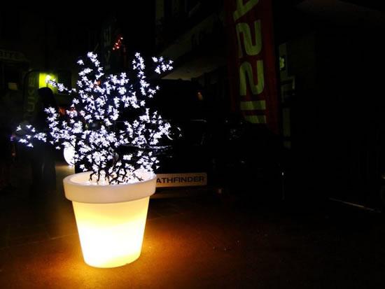 Pot et cerisier lumineux led