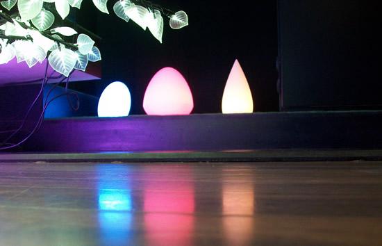 Les formes lumineuses led