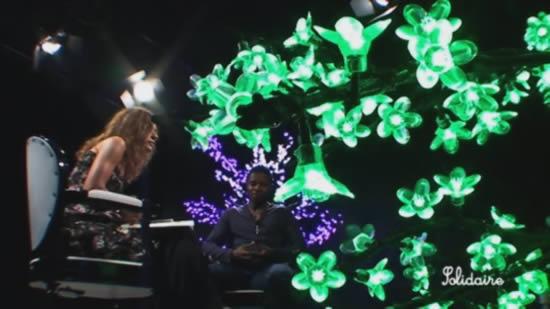 les arbres lumineux et Michel Bastos