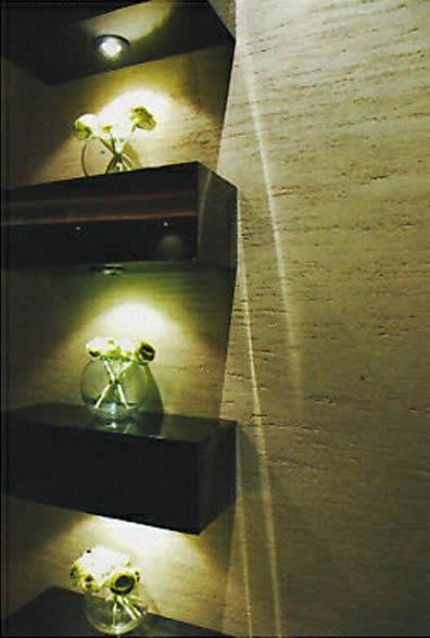 Exemple d'installation des spots LED