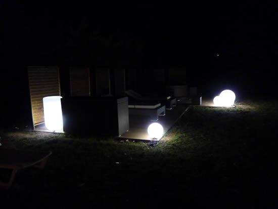 Spa et terrasse de nuit
