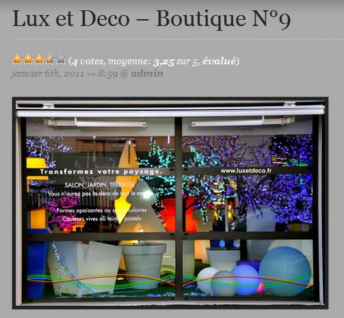 LUX ET DECO est la boutique n°9