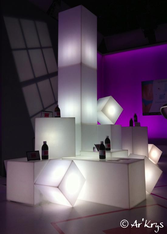 Cubes et colonnes lumineux