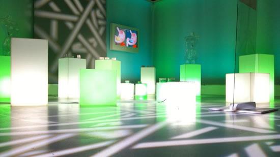 Cubes lumineux sur M6 Boutique