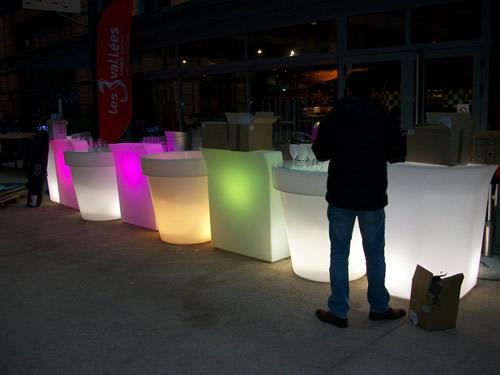 Bar et pots lumineux