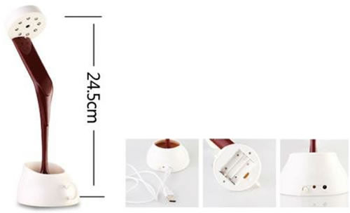 Dimension de la lampe LED