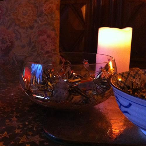Bougies en cire avec des led dedans