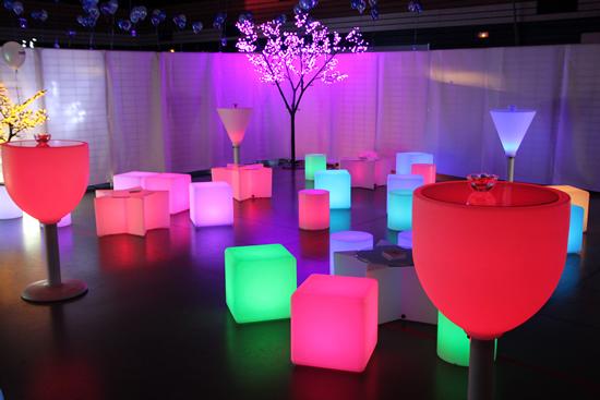 Cubes led, mange-debouts lumineux