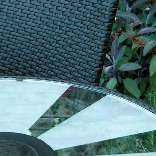 La plateau en verre et le module solaire LED