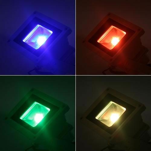Projecteur LED couleur avec télécommande