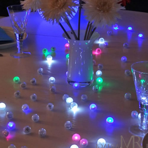 Perles boules et sph res lumineuses led blog - Boule lumineuse pour piscine ...
