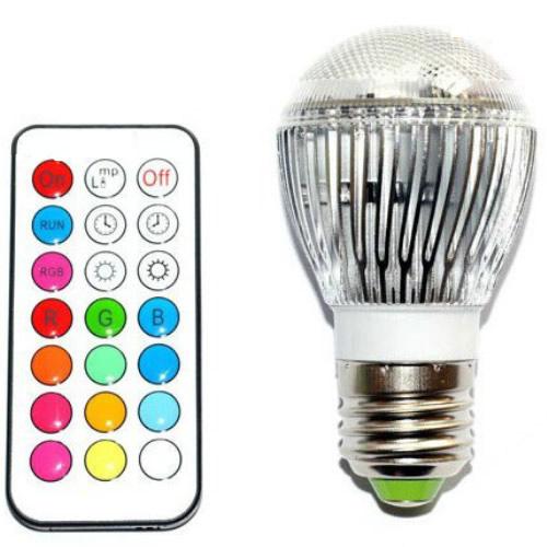 Ampoule LED E27 couleur avec télécommande