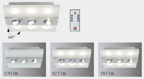 Plafonnier LED Xeta avec spots