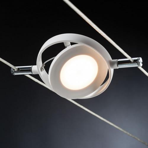 Spot LED ^rond sur câbles