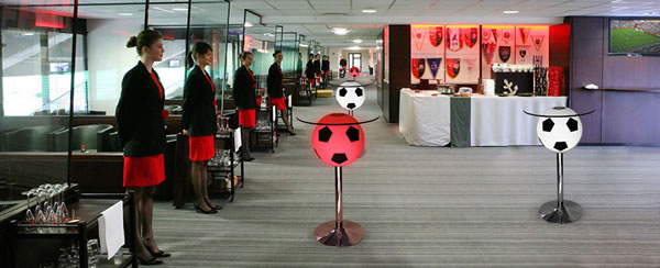 Table foot en réception